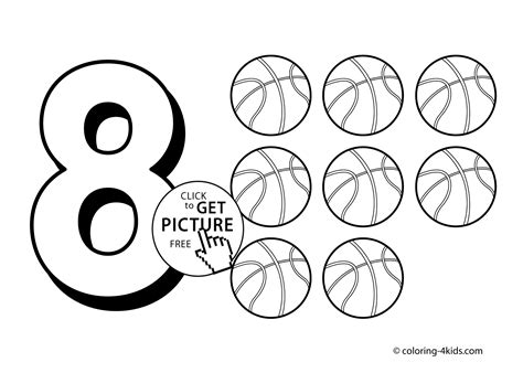 8 Numbers Coloring Pages For Kids Printable Free Digits Where To Find Coloring Books