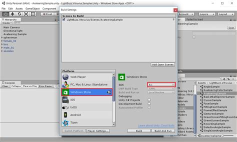 unity kinect tutorial windows export your unity kinect project for windows store