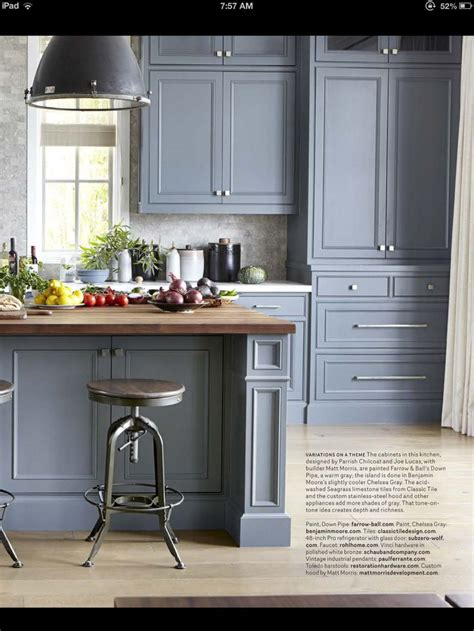 gray cabinets krista kitchen pinterest gray cabinets butcher block island home living room