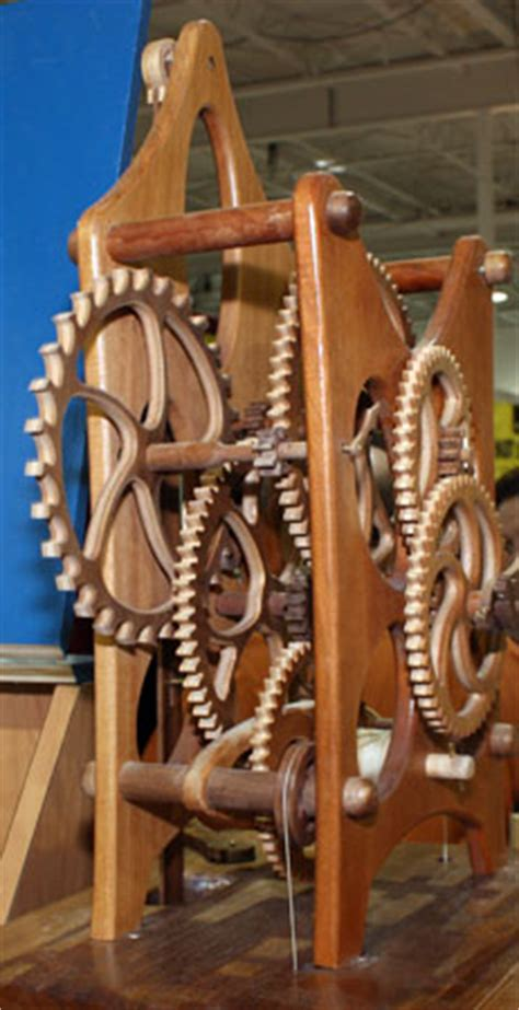 woodline wood gear clock kit