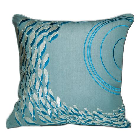 Outdoor Pillow by School Of Fish Indoor Outdoor Pillow