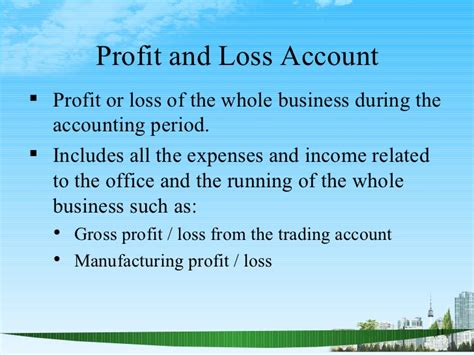 Gross Profit Mba by Manufacturing Account Ppt Mba Finance