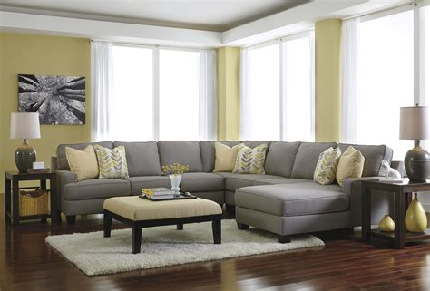 Aksesoris Pelengkap Ruang Tamu 34 signature design by chamberly alloy modern 5 sectional sofa with right chaise