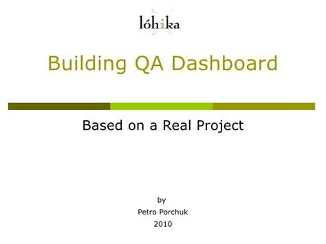 creating qa dashboard