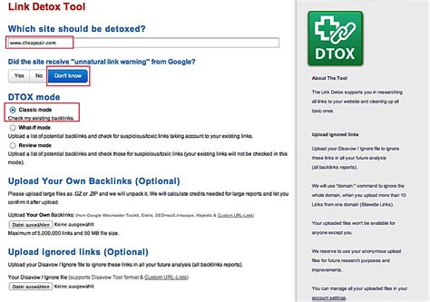 Link Detox Link Research Tools by Cheapoair A Penguin 2 0 Penalty And Dive Into