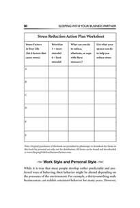 stress management worksheets stress reduction action