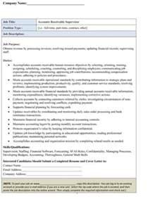 Accounts Receivable Description Sle by Sle Accounts Receivable Payable Clerk Description Small Business Free Forms