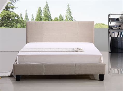 beige bed frame linen fabric bed frame beige