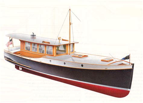 wooden boat launch plans wedge point 27 semi displacement trailerable classic