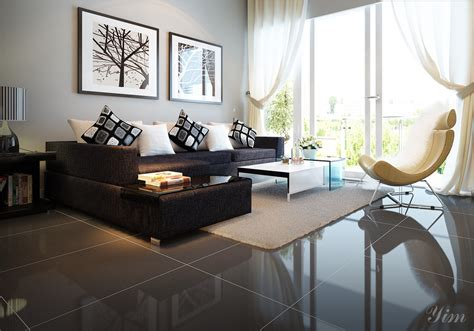 dark brown living room warm and cozy rooms rendered by yim lee