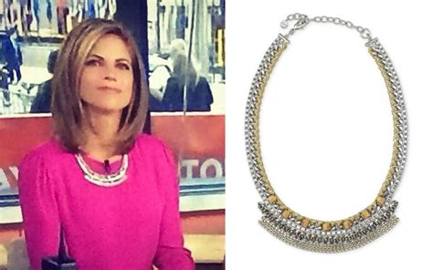 natalie morales wearing the cassidy collar necklace by