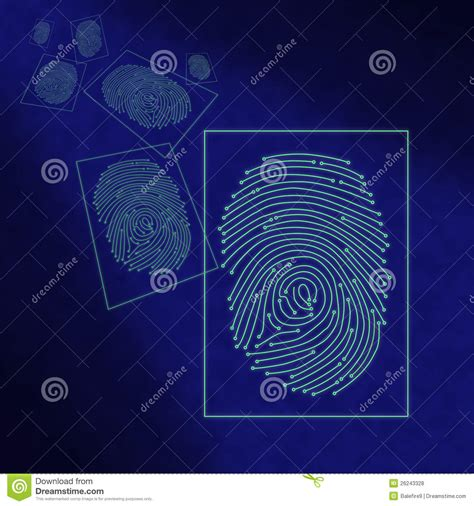 Electronic Digital Fingerprint Processing Royalty Free Stock Photos Image: 26243328
