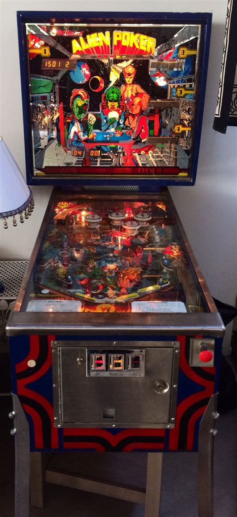 alien poker pinball machine  sale  chicago il