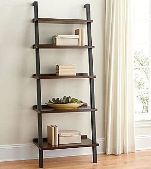 Ladder Bookcase For The Empty Wall In The Living Room Magazine Holders For Bookshelves