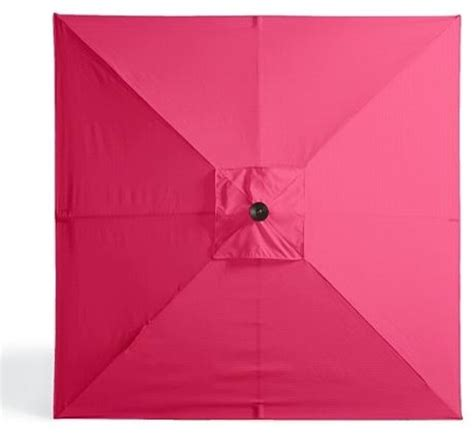 Pink Patio Umbrella Outdoor Square Market Patio Umbrella In Sunbrella Pink Black Aluminum Traditional Outdoor