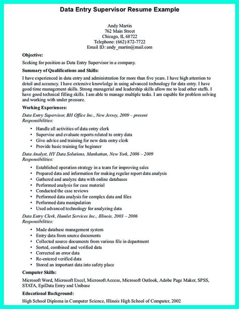 resume objective exles for data entry best 2695 resume sle template and format ideas on computer science best computer