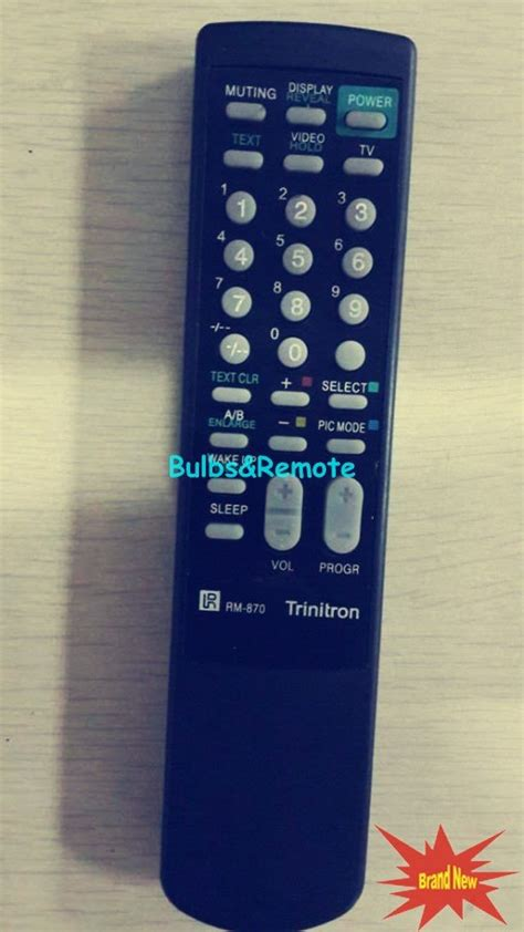 Remot Remote Tv Sony Tabung Trinitron Rm 870 Kw Perangkat Elektronik for sony rm 870 rm870 trinitron tv remote
