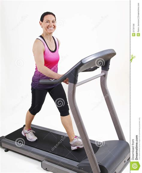 how to a to run on a treadmill running on treadmill royalty free stock image image 21791166