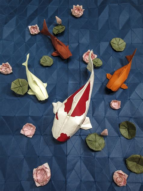 Origami Pond - you should definitely give a carp about these beautiful