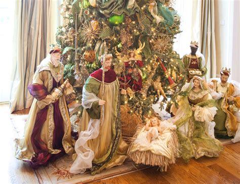 design ideas nativity christmas interior traditional living room houston