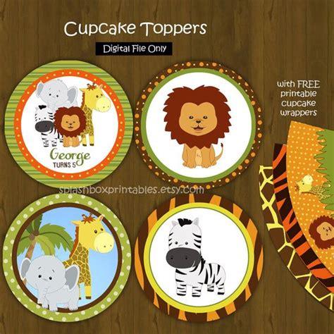 free printable zoo animal cupcake toppers safari zoo jungle cupcake toppers with free cupcake