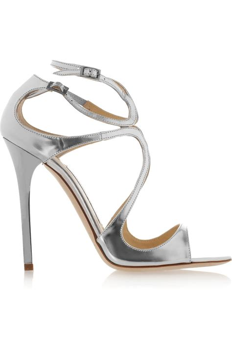 jimmy choo silver sandals shoeniverse lance strappy sandals by jimmy choo in silver
