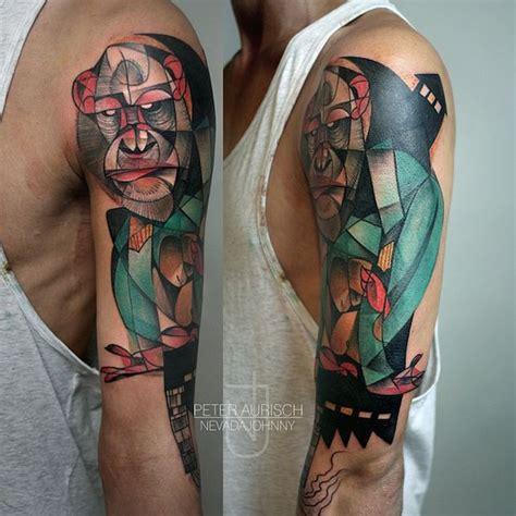 geometric gorilla tattoo 42 abstract animal tattoos