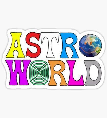 Astroworld Sticker stickers in 2019 stickers laptop stickers