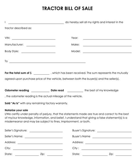 motor boats monthly online printable sle tractor bill of sale form laywers