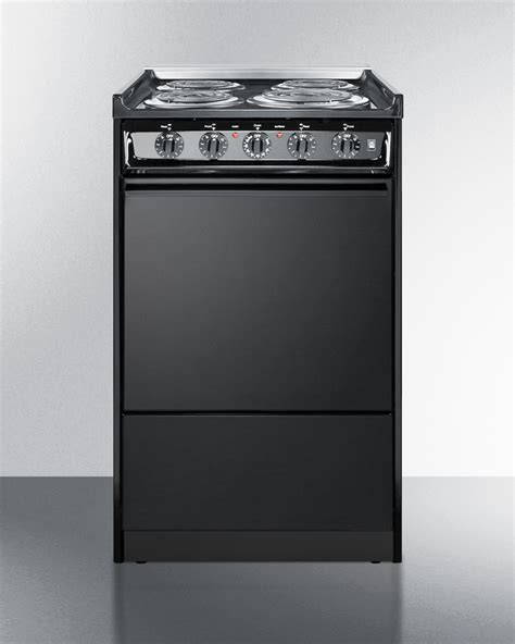 27 Inch Wide Slide In Electric Range by Summit Tem110crt 20 Inch Wide Slide In Electric Range In