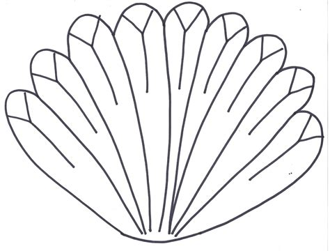 printable turkey feather template free coloring pages of turkey feather