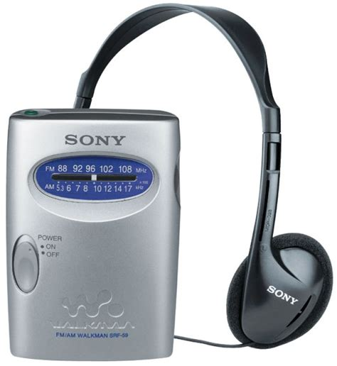 Earphone Sony Walkman sony srf 59 fm am radio walkman with sony mdr headphones automobiles walkman headphone
