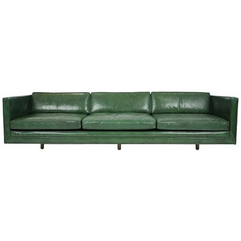 25 best ideas about green leather sofa on