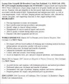 Nicu Resume professional nicu templates to showcase your talent myperfectresume