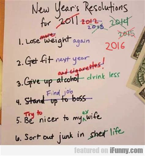 new year s resolutions for 2016 ifunny com