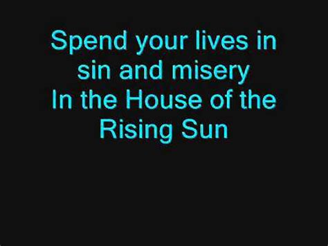 animals house of the rising sun lyrics the animals house of the rising sun lyrics youtube