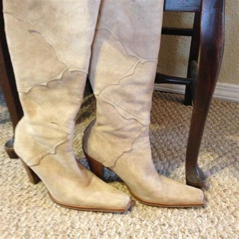 bone colored boots 94 nine west shoes bone colored suede boots