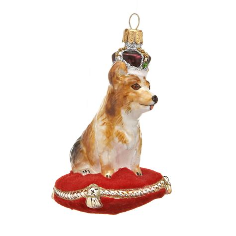 corgi with crown christmas ornament gump s