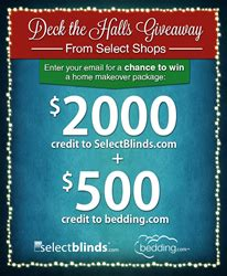 Free Government Giveaway Package - 2500 home makeover holiday giveaway from select shops