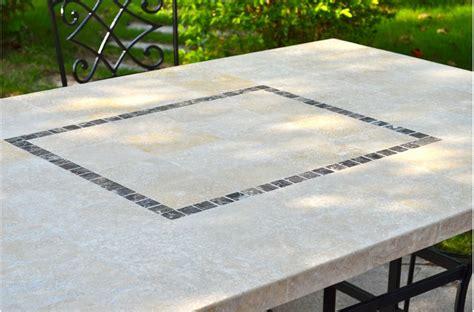 Table De Jardin Mosaique Rectangulaire