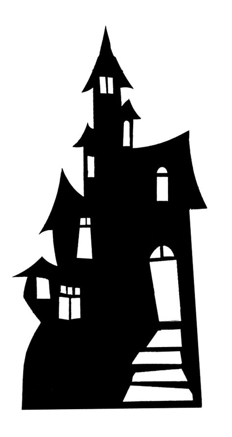 haunted house silhouette clipart panda  clipart images