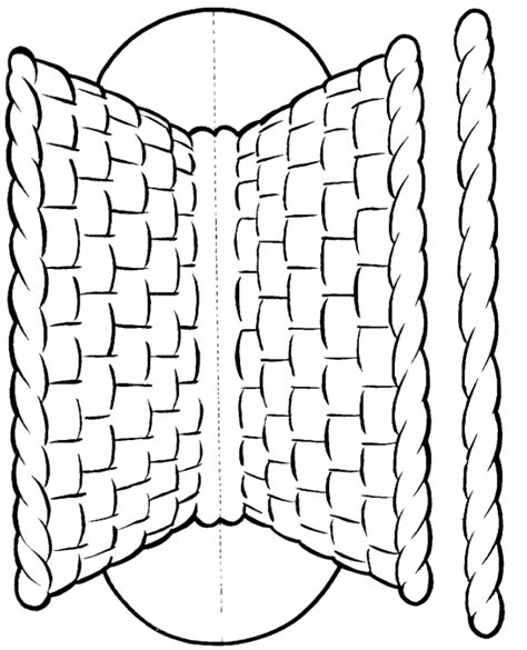 woven basket template basket msss craft template