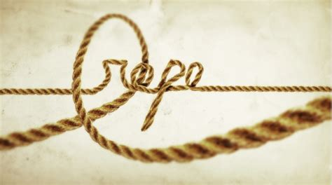 inkscape tutorial rope cool text effect with the puppet warp tool in photoshop cs5