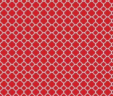 flower pattern eshop red quatrefoil fabric sweetzoeshop spoonflower