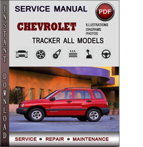 service manual 1999 chevrolet tracker dash owners manual chevrolet tracker 1999 2004 factory
