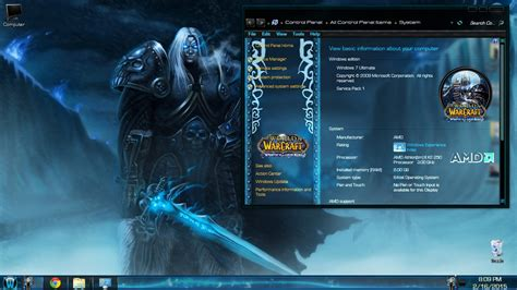 theme windows 7 world of warcraft windows 7 theme wow wrath of lich king