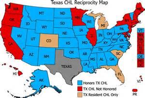 ccw reciprocity map reciprocity concealed handgun license
