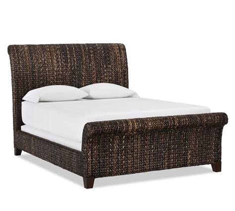 seagrass bedroom furniture seagrass sleigh bed pottery barn