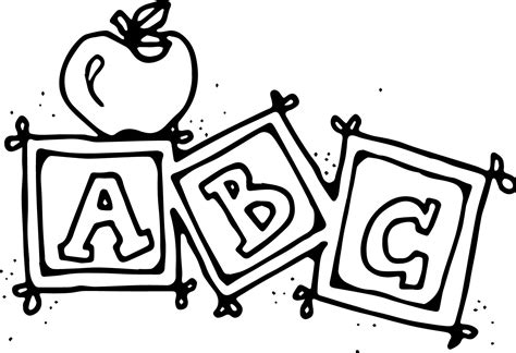 preschool abc coloring pages wecoloringpage