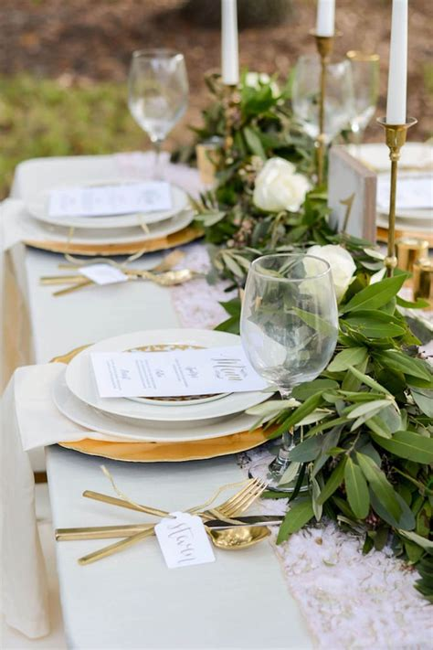 wedding tablescapes with candles 2 wedding reception tablescape with lush greenery table runner with gold candle sticks with gold